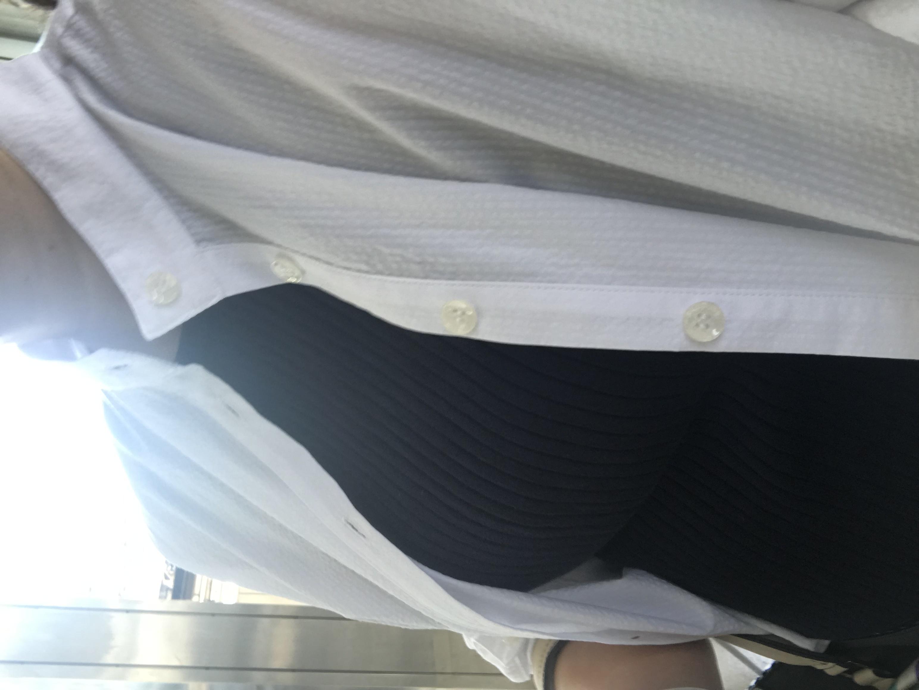 新幹線車内…暑くて。
