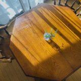 ひとり暮らしには、大きいテーブルだけど…