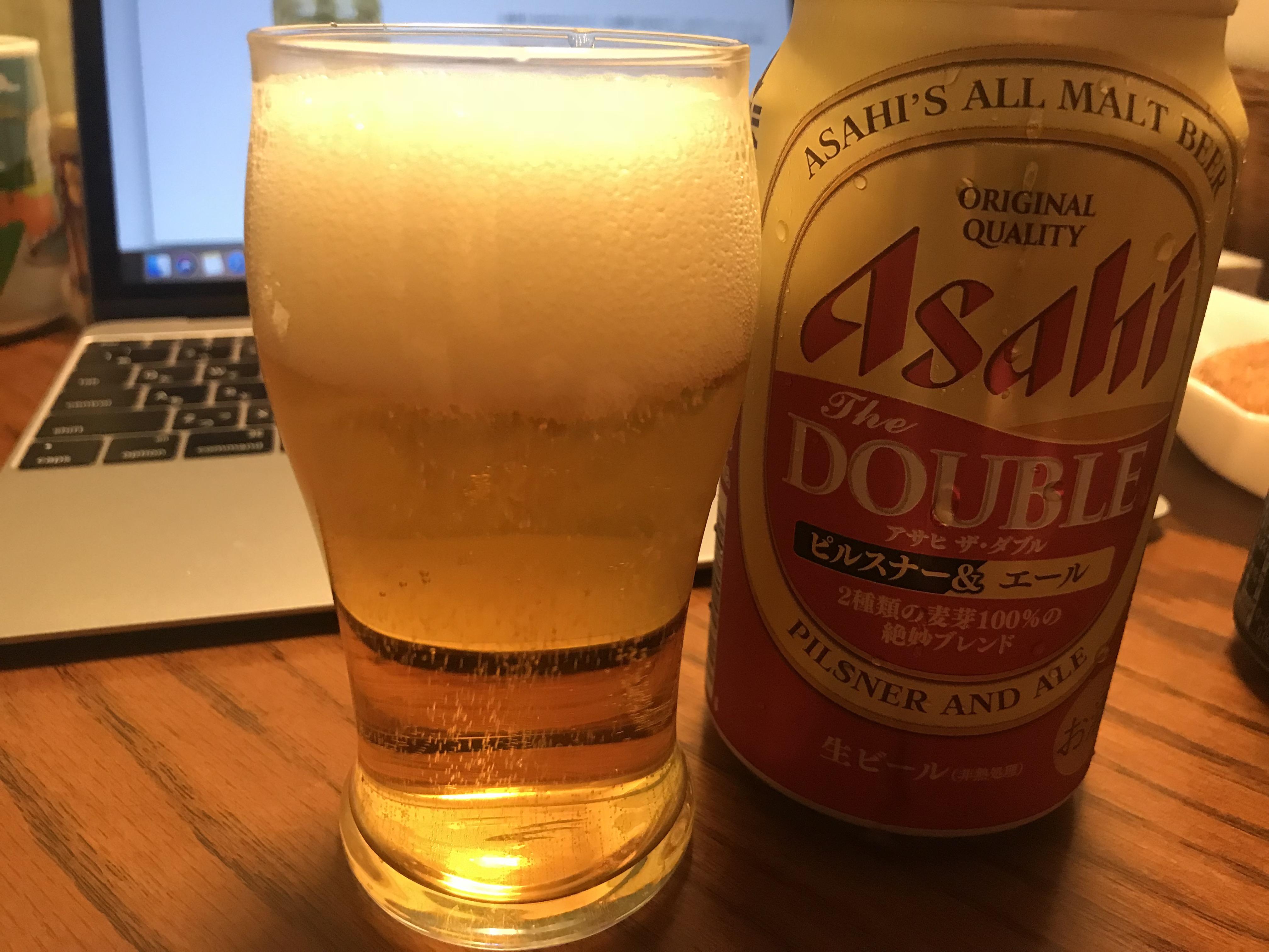 ファミマ限定 ビール アサヒ ザ・ダブル ピルスナー&エール